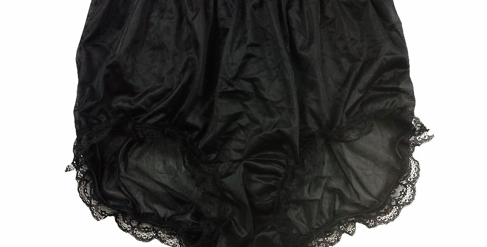 NNH08D04 Black Handmade Panties Lace Women Men Briefs Nylon Knickers