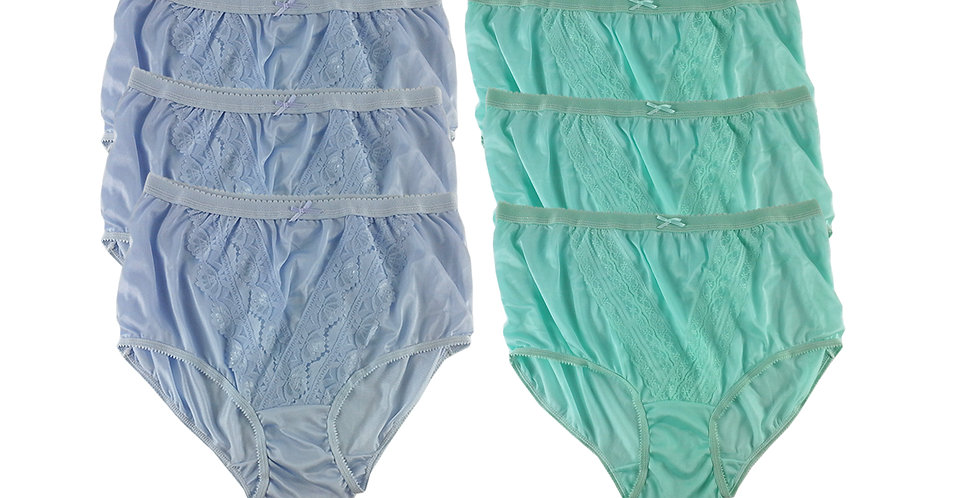 NLSG01 Lots 6 pcs Wholesale New Panties Granny Briefs Nylon Men Women