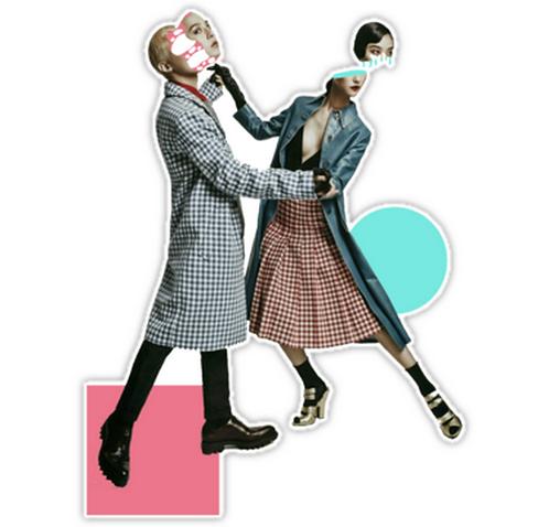 Dance with G-Dragon SSTK043 K-Pop Music Brand Car Window Decal Sticker