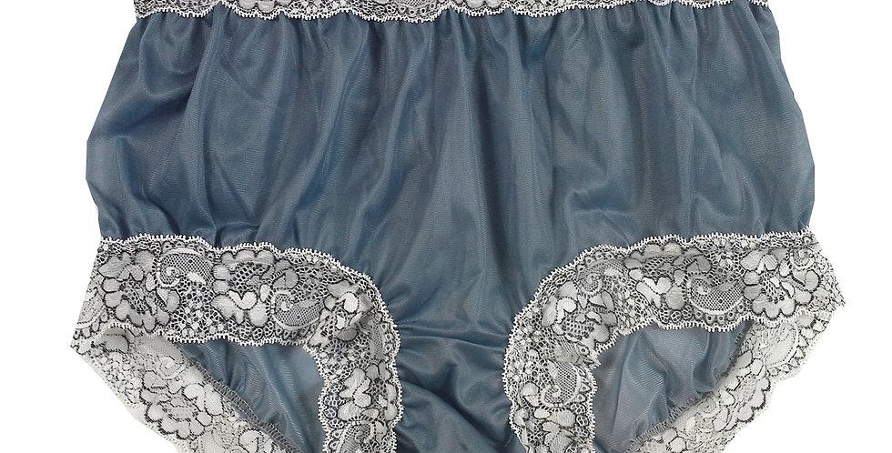 New Gray Nylon Lingerie Knickers Panties Briefs Men Handmade Waist Lacy NH26D