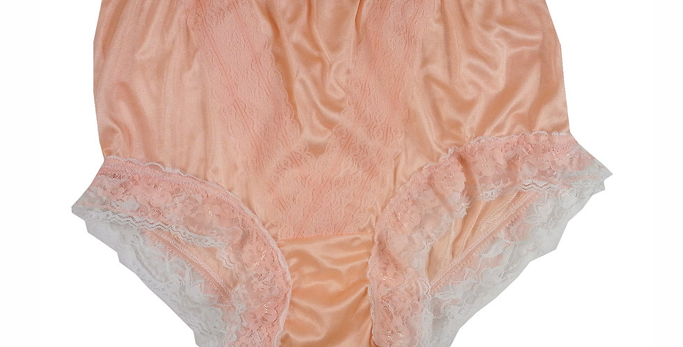 NLH05D05 Orange New Panties Granny Lace Briefs Nylon Handmade  Men