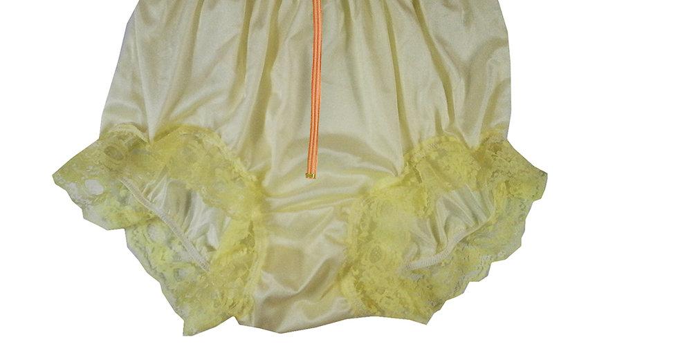 NQH19D01 Yellow Zipper New Panties Granny Briefs Nylon Handmade Lace Men