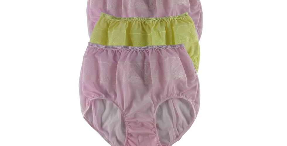 JYTB06 Lots 3 pcs Wholesale Nylon Panties Women Men Floral Briefs