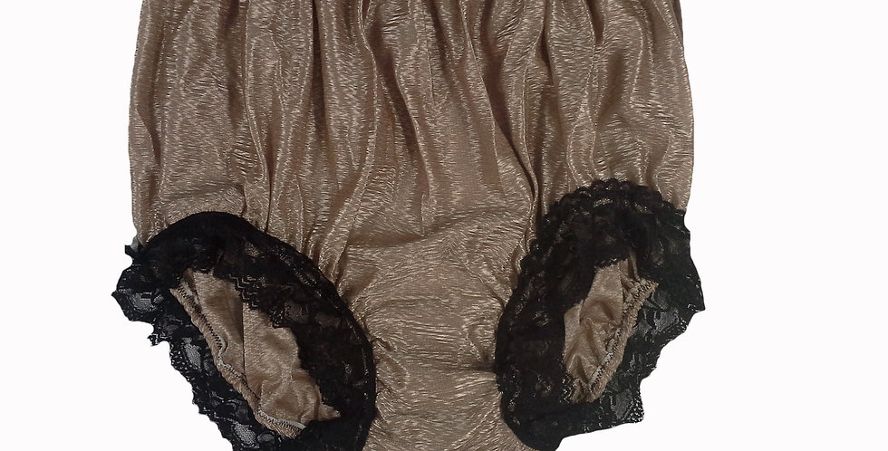 SFH07D14 brown Shiny Nylon New Panties Women Men Handade Briefs