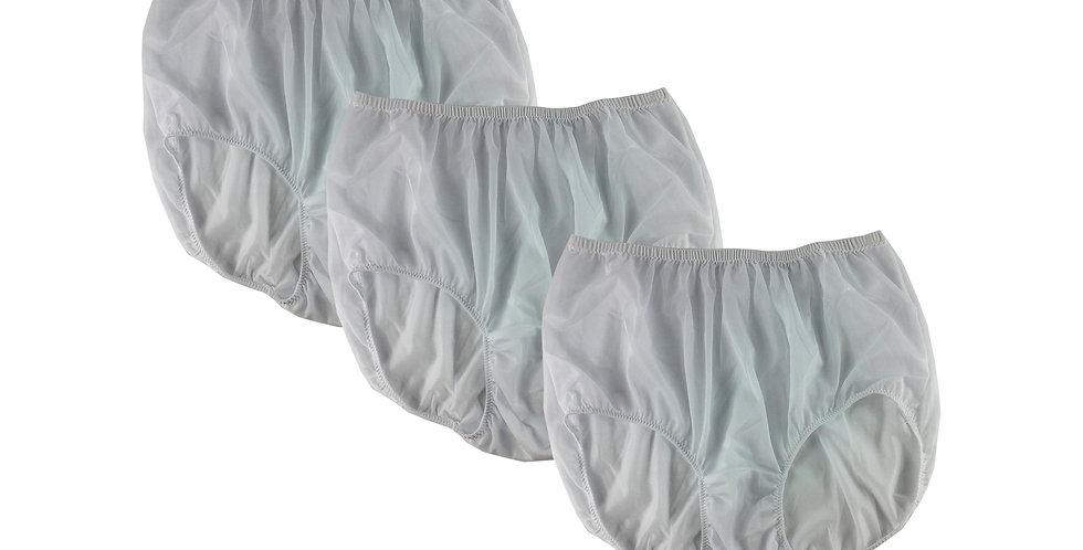 BB17 White Lots 3 pcs Wholesale Women New Panties Granny Briefs Nylon