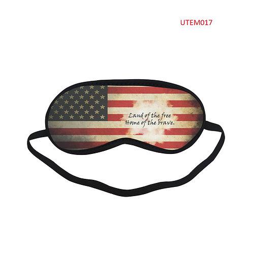 UTEM017 USA Flag Eye Printed Sleeping Mask