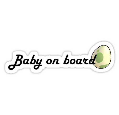Baby on board SPKMR017 Cartoon Anime Car Window Decal Sticker