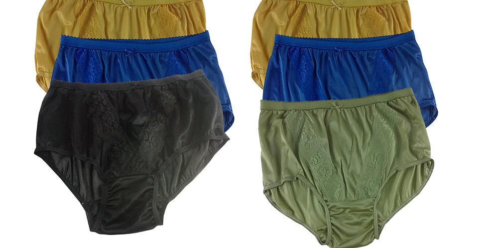 KJSJ57 Lots 6 pcs Wholesale New Panties Granny Briefs Nylon Men Women