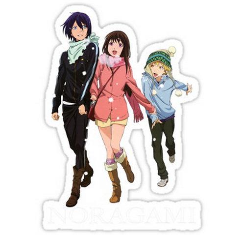 SRBB0661 Yato, Yukine and Hiyori Noragami anime sticker
