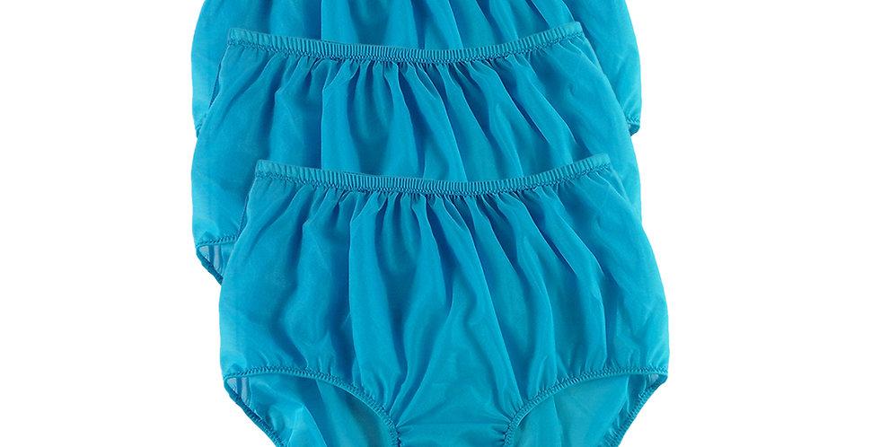 B16 Light Blue Lots 3 pcs Wholesale Women New Panties Granny Briefs Nylon