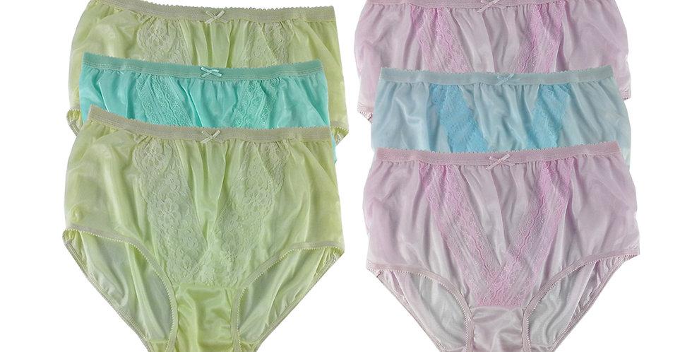NLSG35 Lots 6 pcs Wholesale New Panties Granny Briefs Nylon Men Women
