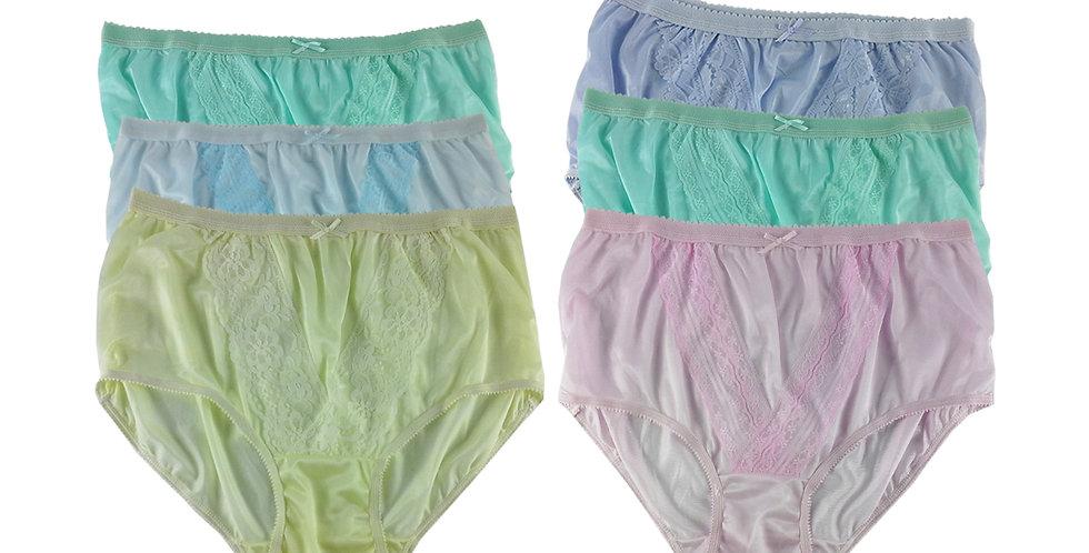 NLSG125 Lots 6 pcs Wholesale New Panties Granny Briefs Nylon Men Women