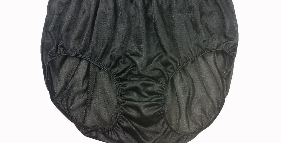 JR13 Black Half Briefs Nylon Panties Women Men Knickers