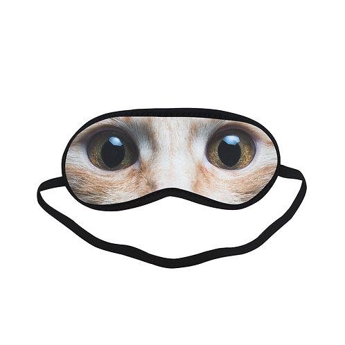 SPM119 cat big  eye Eye Printed Sleeping Mask