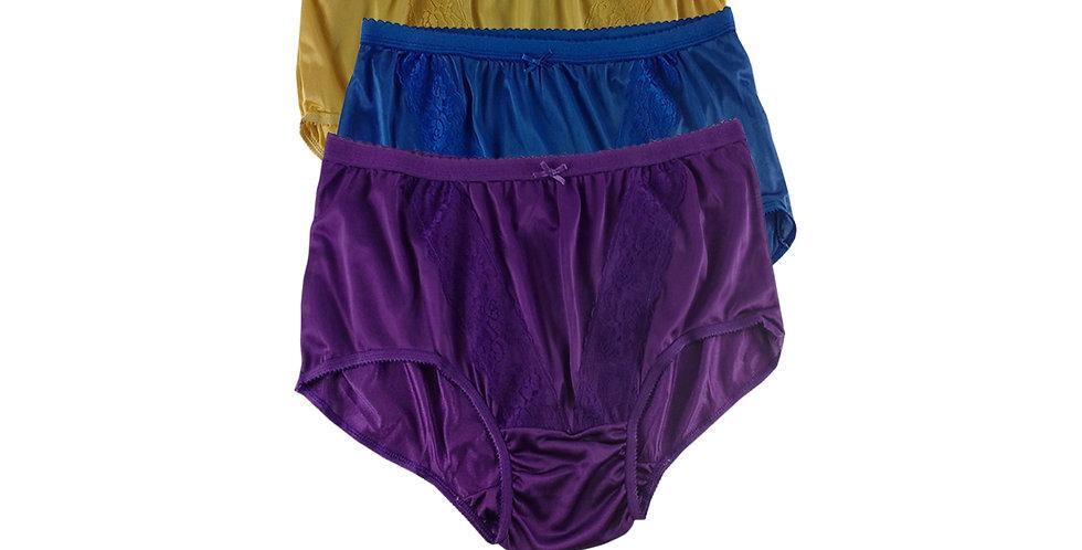 KJTK02 Lots 3 pcs Wholesale Panties Granny Lace Briefs Nylon Men Woman