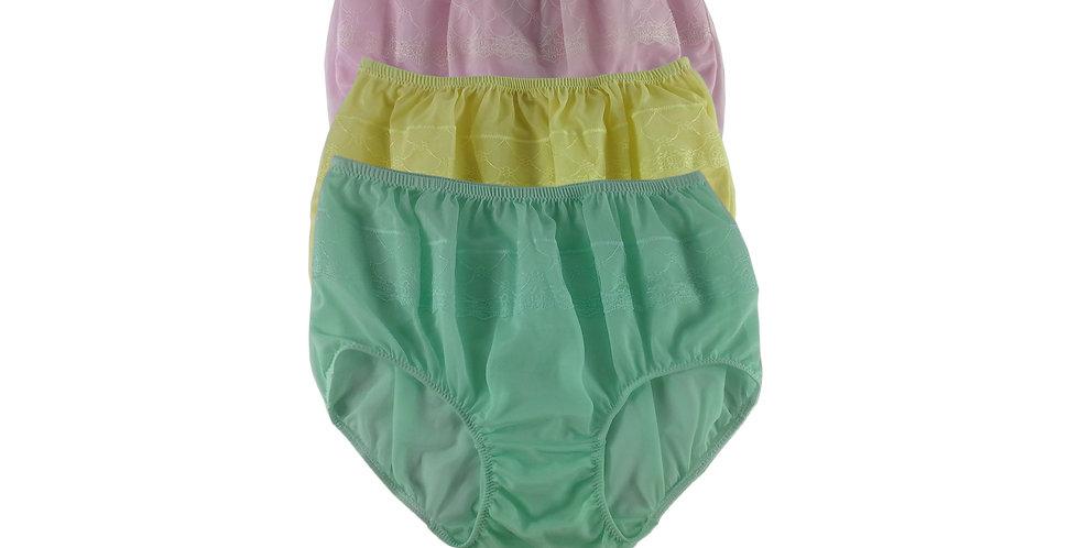JYTB02 Lots 3 pcs Wholesale Nylon Panties Women Men Floral Briefs