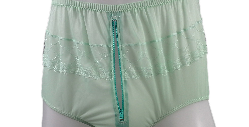 JYH03P04 fair green Handmade Nylon Panties Women Men Lace Knickers Briefs