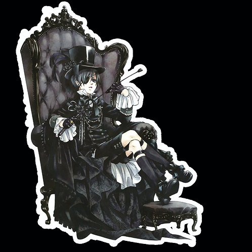 Anime Stickers Die-cut Car motorcycle laptops phone Truck wall BB37 Black Butler