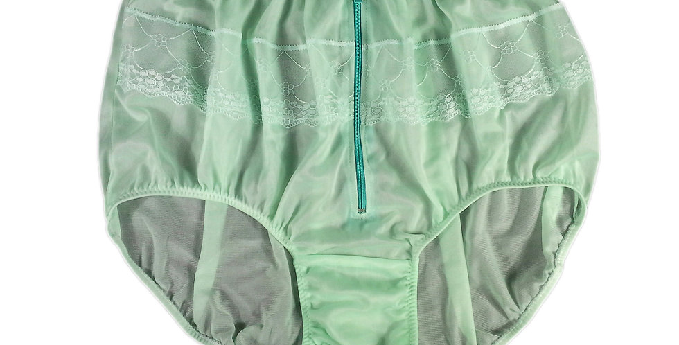 JYH03D05 fair green Handmade Nylon Panties Women Men Lace Knickers Briefs