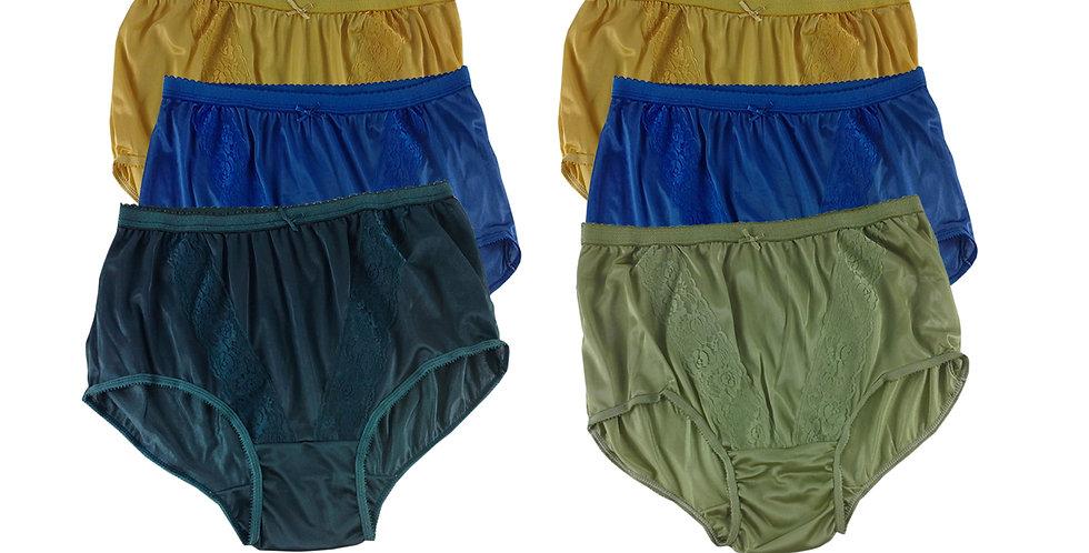 KJSJ59 Lots 6 pcs Wholesale New Panties Granny Briefs Nylon Men Women