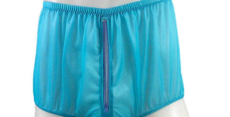 NNH03P05 light blue Handmade Panties Lace Women Men Briefs Nylon Knickers