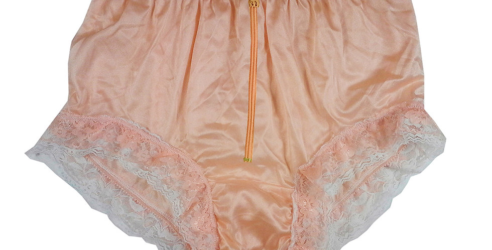 NYH23DP04 Orange Zipper Handmade New Panties Briefs Lace Sheer Nylon Men Women