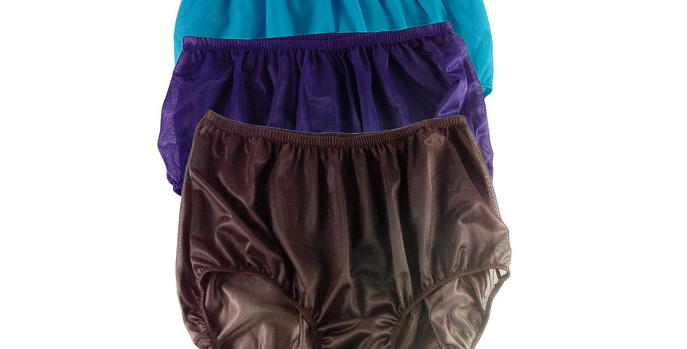 A42 Lots 3 pcs Wholesale Women New Panties Granny Briefs Nylon Knickers