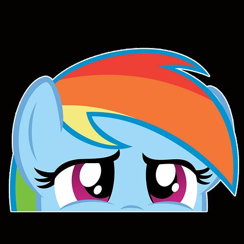 Peeker Anime Peeking Sticker Car Window Decals PK157 my little pony Rainbow Dash