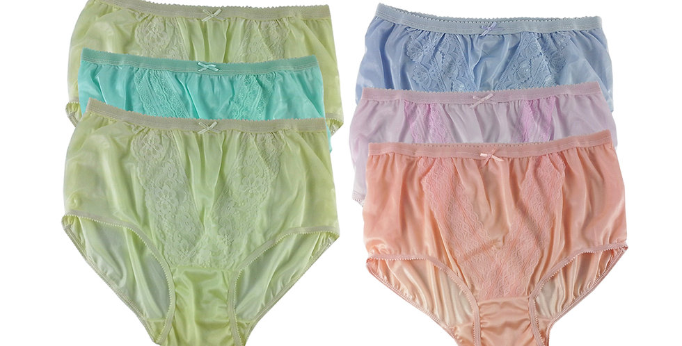 NLSG44 Lots 6 pcs Wholesale New Panties Granny Briefs Nylon Men Women