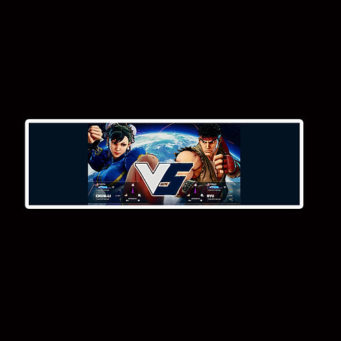 Slap Stickers Anime Stickers Decals Helmet laptops SLSF19 Street Fighter Game