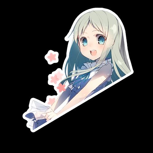 Peeker Anime Peeking Sticker Car Decal PMK12 Meiko Honma Anohana