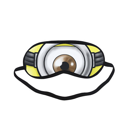 SPM374 minions Eye Printed Sleeping Mask