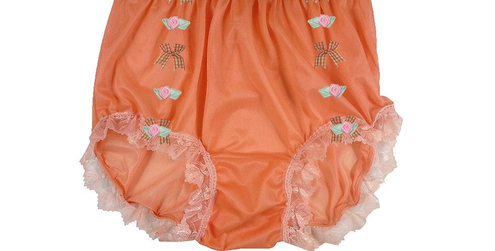 NNH18D06 Orange Handmade Panties Lace Women Men Briefs Nylon Knickers