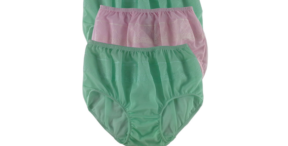 JYTB07 Lots 3 pcs Wholesale Nylon Panties Women Men Floral Briefs