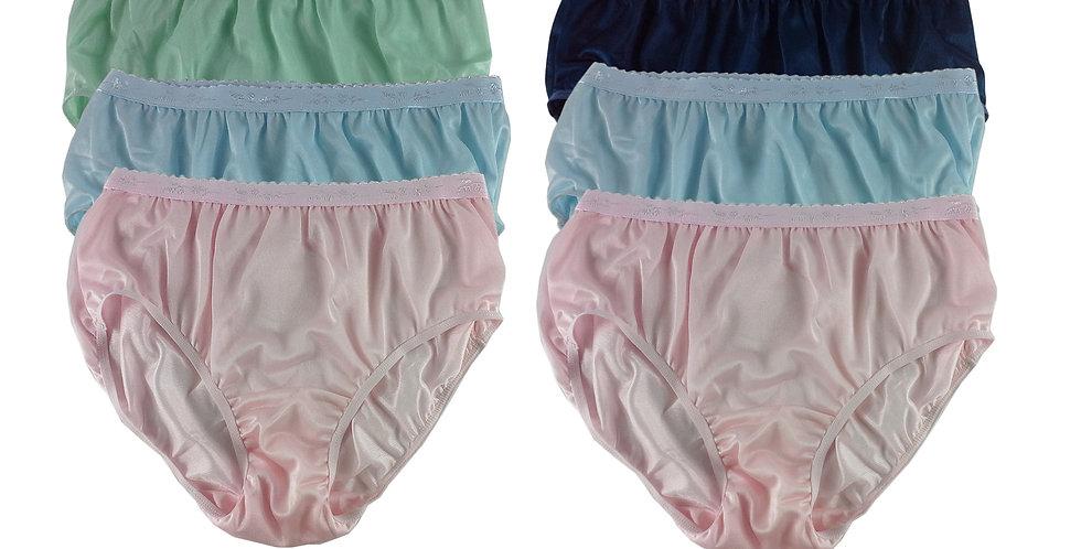 CKSL26 Lots 6 pcs Wholesale New Nylon Panties Women Undies Briefs
