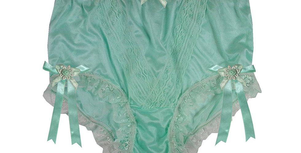NLH18D05 Green New Panties Granny Lace Briefs Nylon Handmade  Men