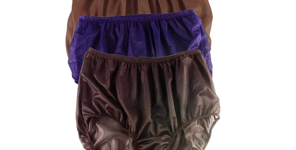A35 Lots 3 pcs Wholesale Women New Panties Granny Briefs Nylon Knickers