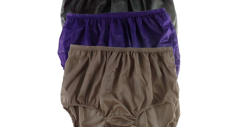 A8 Lots 3 pcs Wholesale Women New Panties Granny Briefs Nylon Knickers