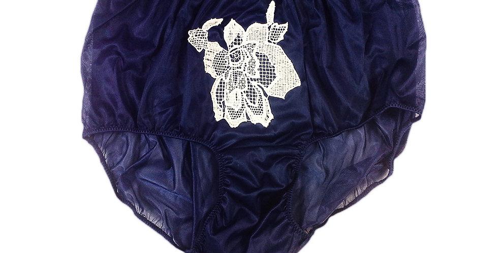 NNH13L03 Deep Blue sewing pad Handmade Panties Lace Women Men Briefs Nylon