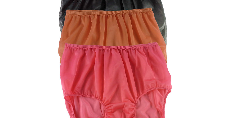 A88 Lots 3 pcs Wholesale Women New Panties Granny Briefs Nylon Knickers