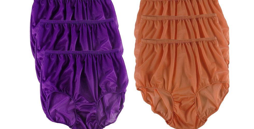 NSD77Lots 6 pcs Wholesale Women New Panties Granny Briefs Nylon Lingerie