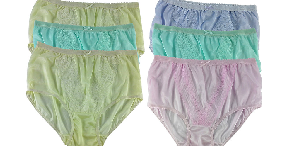 NLSG50 Lots 6 pcs Wholesale New Panties Granny Briefs Nylon Men Women