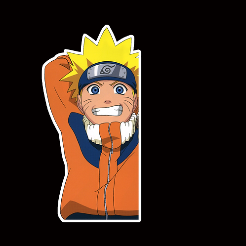 NOR338 uzumaki Naruto Peeking anime sticker Car Decal Vinyl Window