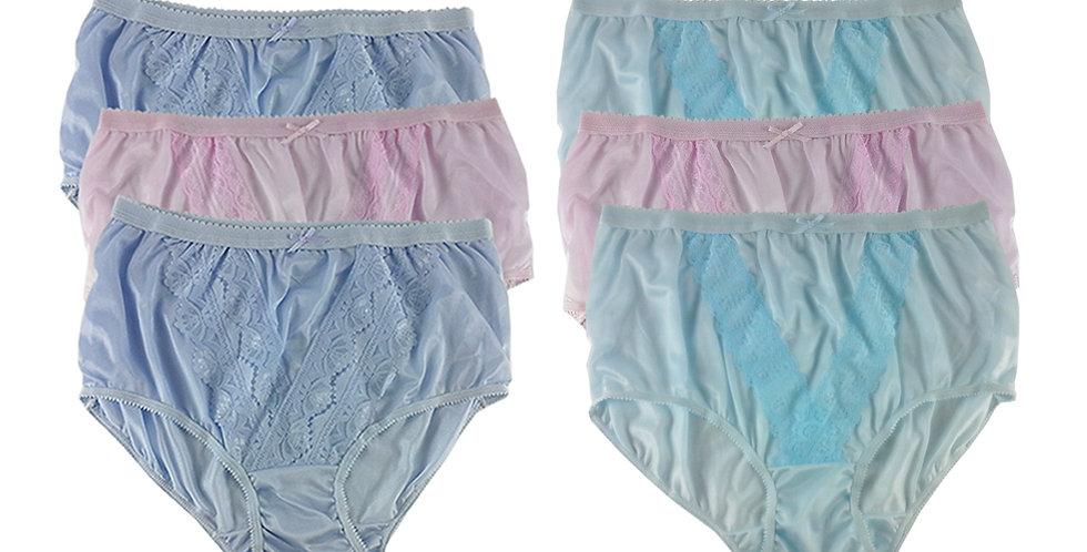 NLSG18 Lots 6 pcs Wholesale New Panties Granny Briefs Nylon Men Women