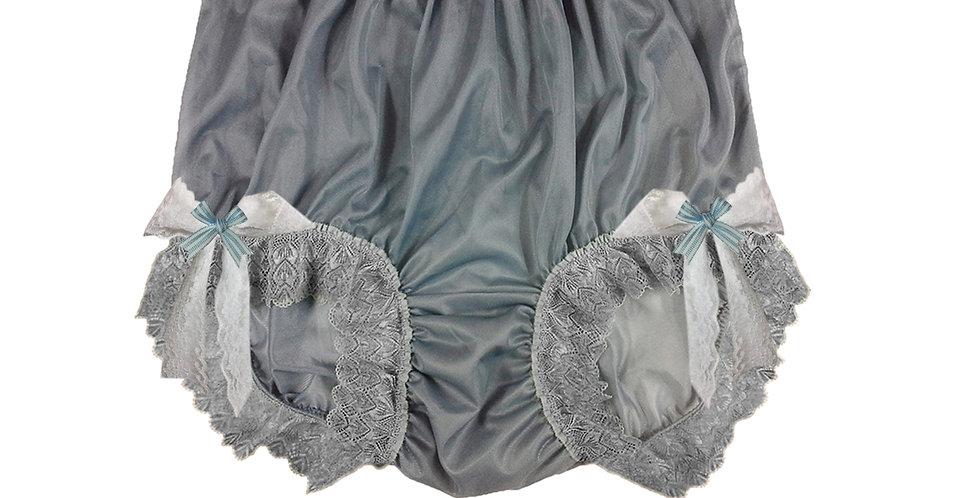 NNH17D08 Grey Gray Handmade Panties Lace Women Men Briefs Nylon Knickers