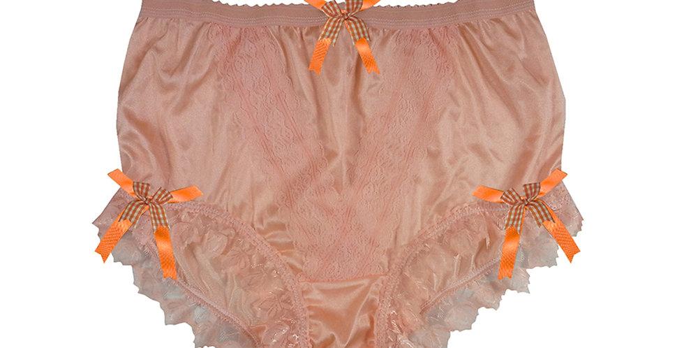 NLH18D06 Orange New Panties Granny Lace Briefs Nylon Handmade  Men