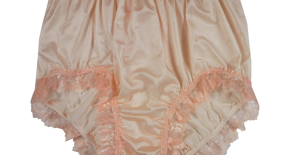 NQH04D03 orange Panties Granny Briefs Nylon Handmade Lace Men Woman