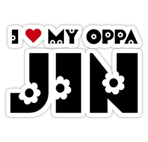 I HEART MY OPPA JIN - BLUE SSTK048 K-Pop Music Brand Car Window Decal Sticker
