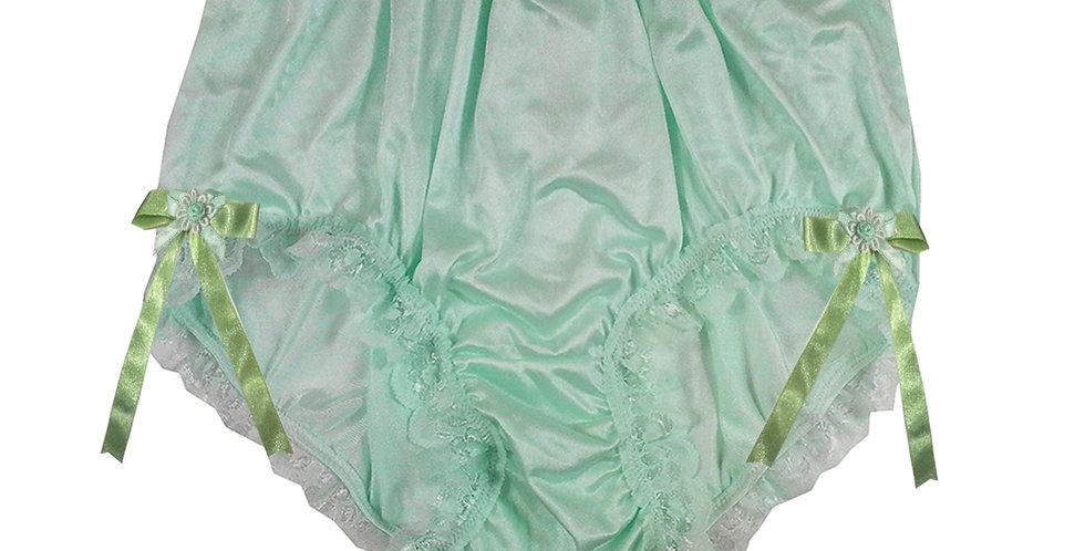 NQH17D06 Green New Panties Granny Briefs Nylon Handmade Lace Men