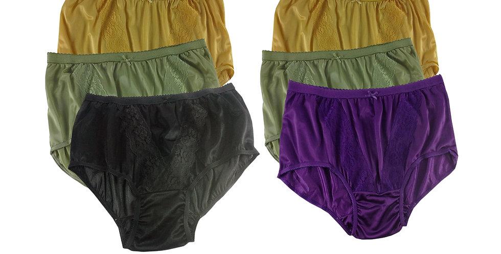 KJSJ41 Lots 6 pcs Wholesale New Panties Granny Briefs Nylon Men Women